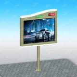Struttura d'acciaio che fa pubblicità del segno della città al mini LED tabellone per le affissioni esterno a energia solare del tabellone per le affissioni 4X3