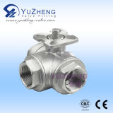 "3/8 "" T Type 3 Way Ball Valve met ISO PAD"