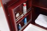 熱い販売の純木の焦茶の塗られた浴室のキャビネット