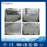 Congelador del pecho de las puertas dobles de Dukers 720L