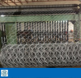 Rete metallica esagonale PVC-Rivestita 3/8 '' a 2 '' usati per recintare