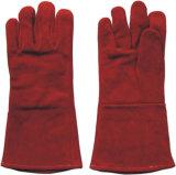 Standardkuh-aufgeteiltes Leder-Schweißens-Arbeits-Handschuh (6504. RD)