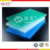 Protección ULTRAVIOLETA, hoja compacta hueco sólida 306 del panal de la PC de la Triple-Pared del blanco translúcido del claro