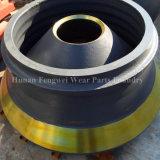 Высокий вкладыш шара хламиды стальной отливки марганца вогнутый для частей износа запасной части конической дробилки