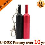 포도주 양조장 선물 주문 로고 금속 적포도주 병 USB Pendrive (YT-1216-02)