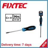 As ferramentas da mão de Fixtec CRV magnetizaram a chave de fenda entalhada ponta