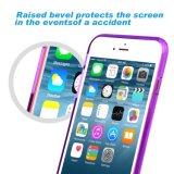 Caso de parachoques suave con la cubierta clara dura del panel trasero para el iPhone de Apple 6 6s 4.7 pulgadas