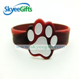 Glänzendes Silicone Bracelet mit Your Design Logo