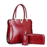 O couro novo do plutônio da forma 3 sacos do PCS ajustou a bolsa do saco de ombro da senhora Desenhador da mulher