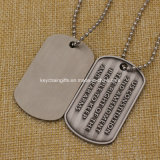 Option bon marché Stainless Iron Silkscreen Printed Dog Tag avec Epoxy