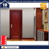 Porte en bois solide extérieure en verre de PVC de panneau d'intérieur en bois
