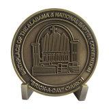 Moneta d'ottone antica di anniversario della stampa con matrice di acciaio