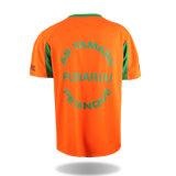 T-shirt 100% barato por atacado maioria da V-Garganta do poliéster dos homens