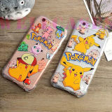 Pokemon Pikachuの覆われる耐震性のエアクッションのゴム製電話カバーまたは箱の完全