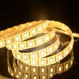 Luz de tira clara do diodo emissor de luz sono flexível amarelo/alaranjado do OEM