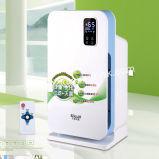 スマートな空気洗濯機はエア・クオリティの表示とエアコンに合う