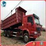 前部上昇の貨物トラック(15CBM/30ton)が付いている6X4 HOWO Sinotrukのダンプトラック