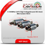 Alto Voltageground mini Isolator/DC blocchetto di ISO-8 5-1000MHz CATV