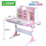 Design ergonomico Height Adjustable Study Table Children Table con Cabinet