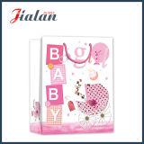 La aduana linda del diseño embroma la bolsa de papel de la ropa del bebé del conjunto del regalo