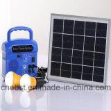 Sistema de energia solar portátil de eficiência elevada da fábrica de Sj-1007-Y mini