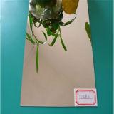 Het hoge Glanzende Weerspiegelende AcrylBlad van de Spiegel van de Kleur voor Decoratie
