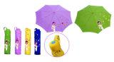 都市女の子は印刷するまっすぐな自動端の傘(YS-SA23081005R)を