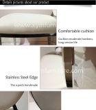 Cadeiras Stackable acolchoadas da parte traseira redonda, cadeira do casamento do aço inoxidável para a venda