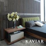 Kaviar neues Entwurfs-Schlafzimmer-Set-hölzernes Furnier-Blatt und Lack-Nachtstandplatz (NU128)