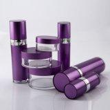 紫色Set7 PPのアクリルのクリーム色の瓶の化粧品の包装のための空気のないローションのびん(PPC-CPS-040)