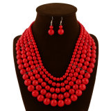 Комплект ювелирных изделий ожерелья серьги заявления шариков способа