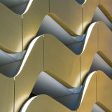 Panneau en aluminium attirant pour la construction en aluminium de façade