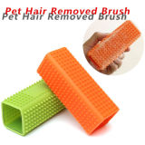 Novo Design Útil Cômoda Pet Brush Silicone Pet Hair Slicker