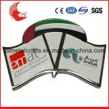 Distintivo di nome promozionale del metallo con il cappello della farfalla