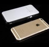 ビデオ携帯用プロジェクター二重USB白いのハイテクな小型プロジェクター1080P高リゾリューションのホームプロジェクター