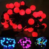 Свет шнура шарика украшений СИД рождества с по-разному цветами