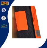 남자는 높은 시정 사려깊은 테이프 PU 코팅 옥스포드 안전 일 재킷을 방수 처리한다