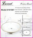 取付けられた洗面器の下の熱い販売の石器の台所正方形の形の毛の洗浄