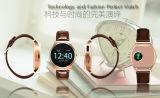 Ledernes materielles wasserdichtes Digital-Laufwerk-intelligente Uhr
