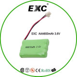 Ni-MH Battery 3.6V 600mAh 600mA AAA Rechargeable Ni-MH Battery