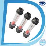 灰色のゆとりLzs-15のプラスチック管の流量計10-100L/H水液体の流れの計器