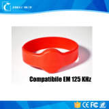 円形の互換性のあるEm Lf 125kHz RFIDのシリコーンのブレスレット