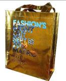 Хозяйственная сумка золота лазера алюминиевой прокатанная пленкой сплетенная PP