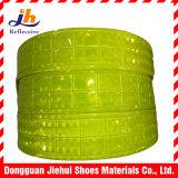 Nastro riflettente di colore giallo prisma fluorescente del PVC del micro per gli indumenti di sicurezza