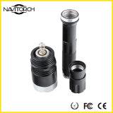 2 batterijen met T6 Flitslicht van de LEIDENE het Zwarte Navulbare Legering van het Aluminium (nk-27)