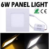 Luz de painel quente do diodo emissor de luz da venda, luz de painel do diodo emissor de luz 6W, luz de painel do diodo emissor de luz de Squre