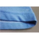 Luz feita sob encomenda - algodão azul camisa impressa do polo T da camisa de polo