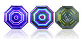 Зонтик створки прокладки 3 компактный алюминиевый светлый (YS-3FM21083938R)