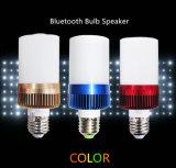 bulbo sem fio do diodo emissor de luz da iluminação de 4W E27 com o altofalante do áudio de Bluetooth