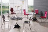 上ガラスが付いているバロック式デザイン円形のダイニングテーブル